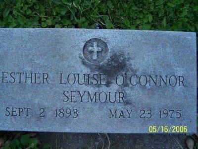SEYMOUR O'CONNOR, ESTHER LOUIS - Wexford County, Michigan | ESTHER LOUIS SEYMOUR O'CONNOR - Michigan Gravestone Photos
