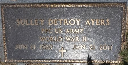 AYERS (VETERAN WWII), SULLEY DETROY (NEW) - Alcorn County, Mississippi | SULLEY DETROY (NEW) AYERS (VETERAN WWII) - Mississippi Gravestone Photos