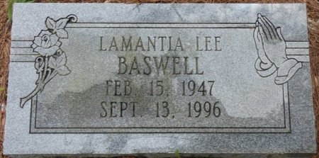 BASWELL, LAMANTIA LEE - Alcorn County, Mississippi | LAMANTIA LEE BASWELL - Mississippi Gravestone Photos