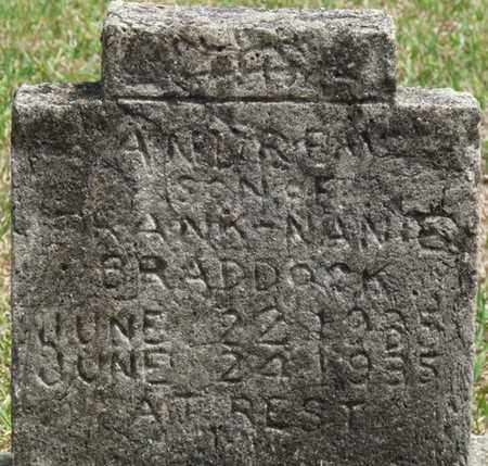 BRADDOCK, ANDREW - Alcorn County, Mississippi | ANDREW BRADDOCK - Mississippi Gravestone Photos