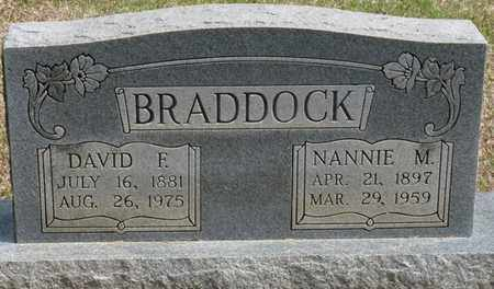 BRADDOCK, DAVID FRANK - Alcorn County, Mississippi | DAVID FRANK BRADDOCK - Mississippi Gravestone Photos