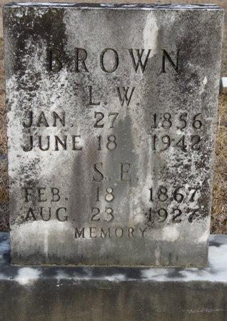 BROWN, SARAH ELIZA - Alcorn County, Mississippi | SARAH ELIZA BROWN - Mississippi Gravestone Photos