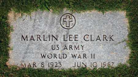 CLARK (VETERAN WWII), MARLIN LEE (NEW) - Alcorn County, Mississippi | MARLIN LEE (NEW) CLARK (VETERAN WWII) - Mississippi Gravestone Photos
