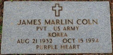 COLN (VETERAN KOREA), JAMES MARLIN - Alcorn County, Mississippi | JAMES MARLIN COLN (VETERAN KOREA) - Mississippi Gravestone Photos
