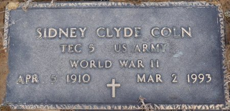 COLN (VETERAN WWII), SIDNEY CLYDE - Alcorn County, Mississippi | SIDNEY CLYDE COLN (VETERAN WWII) - Mississippi Gravestone Photos