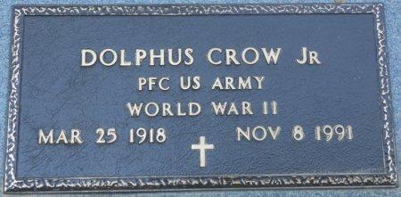 CROW JR (VETERAN WWII), DOLPHUS (NEW) - Alcorn County, Mississippi | DOLPHUS (NEW) CROW JR (VETERAN WWII) - Mississippi Gravestone Photos