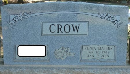 CROW, VENIA - Alcorn County, Mississippi | VENIA CROW - Mississippi Gravestone Photos