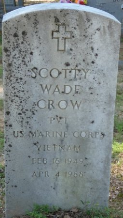 CROW (VETERAN VIET), SCOTTY WADE (NEW) - Alcorn County, Mississippi | SCOTTY WADE (NEW) CROW (VETERAN VIET) - Mississippi Gravestone Photos