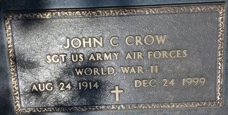 CROW (VETERAN WWII), JOHN C (NEW) - Alcorn County, Mississippi | JOHN C (NEW) CROW (VETERAN WWII) - Mississippi Gravestone Photos