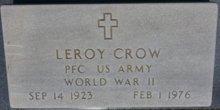 CROW (VETERAN WWII), LEROY (NEW) - Alcorn County, Mississippi | LEROY (NEW) CROW (VETERAN WWII) - Mississippi Gravestone Photos