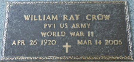 CROW (VETERAN WWII), WILLIAM RAY (NEW) - Alcorn County, Mississippi | WILLIAM RAY (NEW) CROW (VETERAN WWII) - Mississippi Gravestone Photos