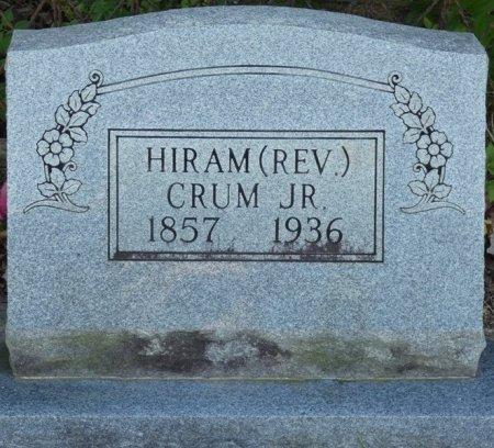 CRUM JR, HIRAM - Alcorn County, Mississippi   HIRAM CRUM JR - Mississippi Gravestone Photos