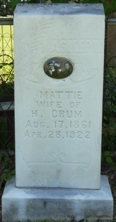 "CRUM, MARTHA A ""MATTIE"" - Alcorn County, Mississippi 