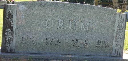 CRUM, LETHA - Alcorn County, Mississippi | LETHA CRUM - Mississippi Gravestone Photos