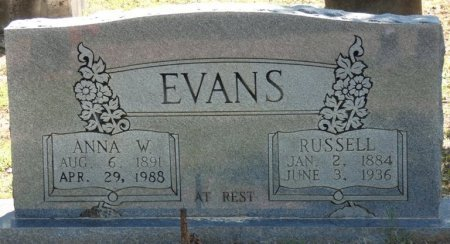 EVANS, JAMES RUSSELL - Alcorn County, Mississippi | JAMES RUSSELL EVANS - Mississippi Gravestone Photos