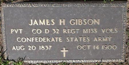 GIBSON (VETERAN CSA), JAMES H (NEW) - Alcorn County, Mississippi   JAMES H (NEW) GIBSON (VETERAN CSA) - Mississippi Gravestone Photos