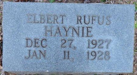 HAYNIE, ELBERT RUFUS - Alcorn County, Mississippi   ELBERT RUFUS HAYNIE - Mississippi Gravestone Photos