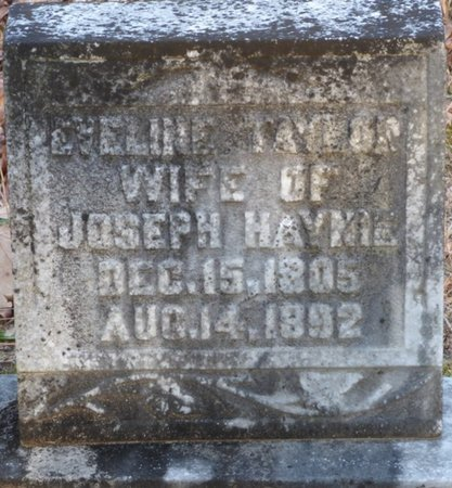 TAYLOR HAYNIE, EVELINE - Alcorn County, Mississippi | EVELINE TAYLOR HAYNIE - Mississippi Gravestone Photos