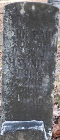 HAYNIE, JOHN PAUL - Alcorn County, Mississippi | JOHN PAUL HAYNIE - Mississippi Gravestone Photos