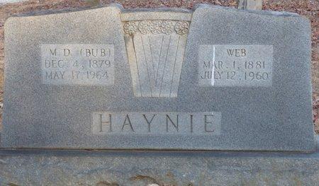 HAYNIE, MARK DECATUR - Alcorn County, Mississippi | MARK DECATUR HAYNIE - Mississippi Gravestone Photos