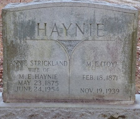 "HAYNIE, MELVIN ELMORE ""TOY"" - Alcorn County, Mississippi | MELVIN ELMORE ""TOY"" HAYNIE - Mississippi Gravestone Photos"
