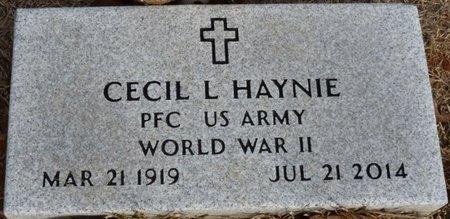 HAYNIE (VETERAN WWII), CECIL L - Alcorn County, Mississippi | CECIL L HAYNIE (VETERAN WWII) - Mississippi Gravestone Photos