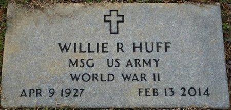 HUFF (VETERAN WWII), WILLIE R - Alcorn County, Mississippi   WILLIE R HUFF (VETERAN WWII) - Mississippi Gravestone Photos