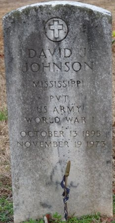 JOHNSON (VETERAN WWI), DAVID J - Alcorn County, Mississippi | DAVID J JOHNSON (VETERAN WWI) - Mississippi Gravestone Photos