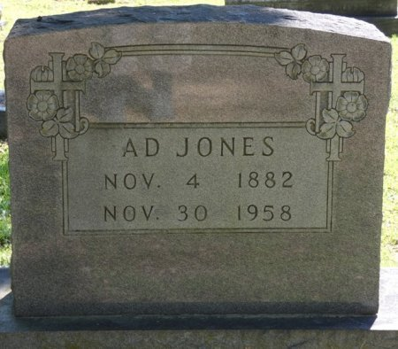 JONES, A.D. - Alcorn County, Mississippi | A.D. JONES - Mississippi Gravestone Photos