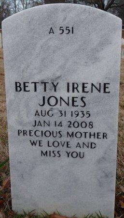 JONES, BETTY IRENE - Alcorn County, Mississippi   BETTY IRENE JONES - Mississippi Gravestone Photos