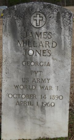 JONES (VETERAN WWI), JAMES MILLARD - Alcorn County, Mississippi   JAMES MILLARD JONES (VETERAN WWI) - Mississippi Gravestone Photos