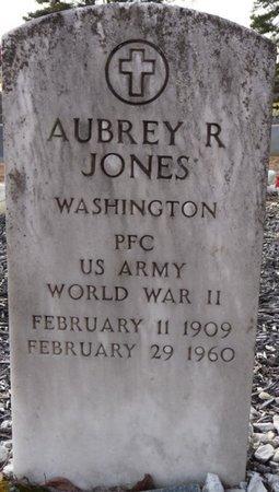 JONES (VETERAN WWII), AUBREY R - Alcorn County, Mississippi | AUBREY R JONES (VETERAN WWII) - Mississippi Gravestone Photos