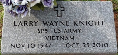 KNIGHT (VETERAN VIETNAM), LARRY WAYNE - Alcorn County, Mississippi | LARRY WAYNE KNIGHT (VETERAN VIETNAM) - Mississippi Gravestone Photos