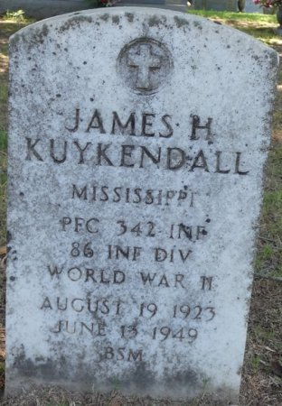KUYKENDALL (VETERAN WWII), JAMES HOLLIS (NEW) - Alcorn County, Mississippi | JAMES HOLLIS (NEW) KUYKENDALL (VETERAN WWII) - Mississippi Gravestone Photos