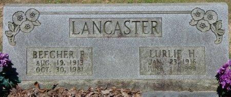 LANCASTER, LURLIE H - Alcorn County, Mississippi   LURLIE H LANCASTER - Mississippi Gravestone Photos