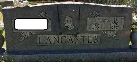LANCASTER, TALMA D - Alcorn County, Mississippi | TALMA D LANCASTER - Mississippi Gravestone Photos