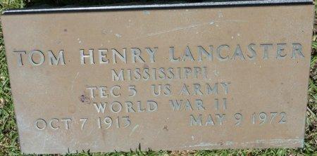 LANCASTER (VETERAN WWII), TOM HENRY (NEW) - Alcorn County, Mississippi | TOM HENRY (NEW) LANCASTER (VETERAN WWII) - Mississippi Gravestone Photos