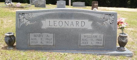 "LEONARD, WILLIAM I ""BILLY"" - Alcorn County, Mississippi | WILLIAM I ""BILLY"" LEONARD - Mississippi Gravestone Photos"