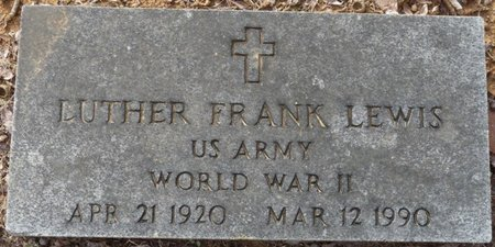 LEWIS (VETERAN WWII), LUTHER FRANK - Alcorn County, Mississippi | LUTHER FRANK LEWIS (VETERAN WWII) - Mississippi Gravestone Photos