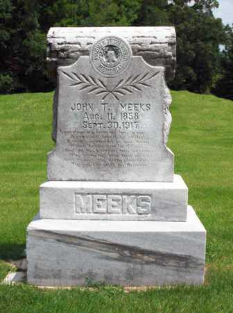 MEEKS, JOHN  T - Alcorn County, Mississippi   JOHN  T MEEKS - Mississippi Gravestone Photos