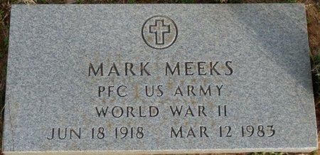 MEEKS (VETERAN WWII), MARK - Alcorn County, Mississippi | MARK MEEKS (VETERAN WWII) - Mississippi Gravestone Photos