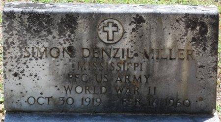 MILLER (VETERAN WWII), SIMON DENZIL (NEW) - Alcorn County, Mississippi   SIMON DENZIL (NEW) MILLER (VETERAN WWII) - Mississippi Gravestone Photos