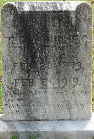NEWCOMB, DEPTHEY KINNON - Alcorn County, Mississippi   DEPTHEY KINNON NEWCOMB - Mississippi Gravestone Photos
