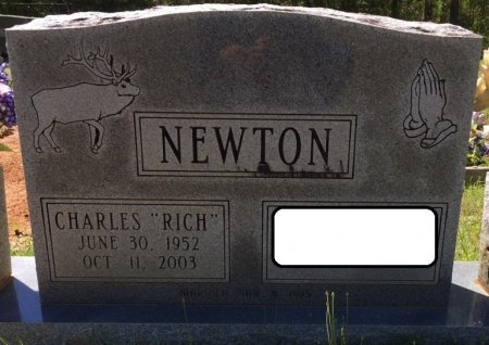 """NEWTON, CHARLES """"RICH"""" - Alcorn County, Mississippi   CHARLES """"RICH"""" NEWTON - Mississippi Gravestone Photos"""