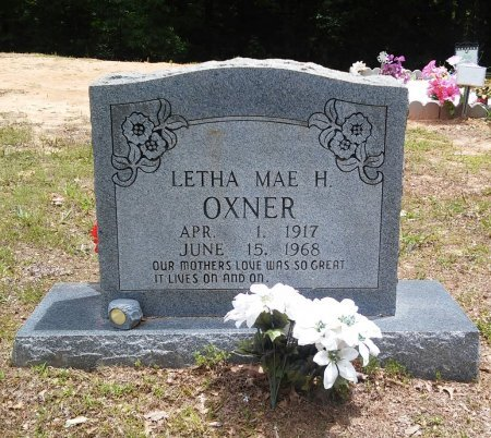 "HANCOCK OXNER, LETHA MAE ""LETHIE"" - Alcorn County, Mississippi   LETHA MAE ""LETHIE"" HANCOCK OXNER - Mississippi Gravestone Photos"