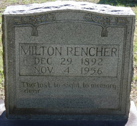RENCHER, HENRY MILTON - Alcorn County, Mississippi   HENRY MILTON RENCHER - Mississippi Gravestone Photos
