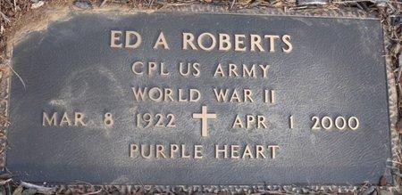 ROBERTS (VETERAN WWII), ED A - Alcorn County, Mississippi   ED A ROBERTS (VETERAN WWII) - Mississippi Gravestone Photos