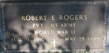 ROGERS (VETERAN WWII), ROBERT E (NEW) - Alcorn County, Mississippi | ROBERT E (NEW) ROGERS (VETERAN WWII) - Mississippi Gravestone Photos