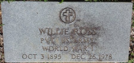 ROSS (VETERAN WWI), WILLIE S (NEW) - Alcorn County, Mississippi | WILLIE S (NEW) ROSS (VETERAN WWI) - Mississippi Gravestone Photos
