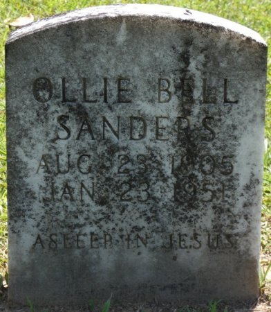SANDERS, OLLIE BELL - Alcorn County, Mississippi | OLLIE BELL SANDERS - Mississippi Gravestone Photos